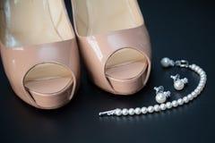 Open toe shoes Stock Photos