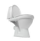 Open toilet bowl isolated on white background Stock Photo