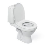 Open toilet bowl on white background Stock Image