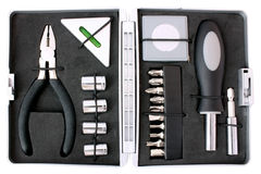 Open toolbox, top view Stock Image