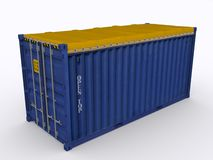 Open top Container. On white background Stock Photos