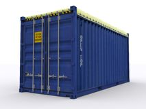 Open top Container. On white background Royalty Free Stock Images