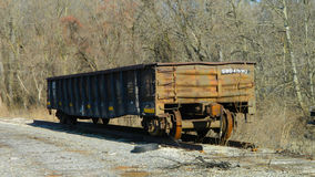 Open Top Railcar Royalty Free Stock Image
