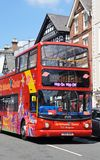 Open topped tour bus, Chester. Royalty Free Stock Photos