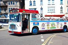 Open topped tour bus, Seaton. Royalty Free Stock Photography