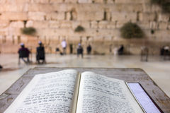 Open Torah in front of Western Wall, Jerusalem Royalty Free Stock Photos