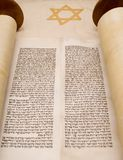 Open torah scroll royalty free stock images