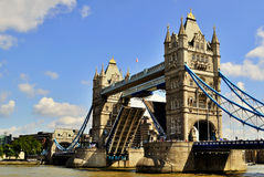 Open Tower Bridge Royalty Free Stock Image