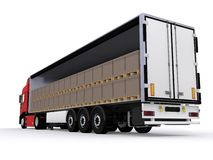 Open trailer Royalty Free Stock Photos