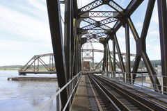 An Open Train Swing Bridge Royalty Free Stock Image