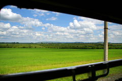Open train window Stock Photography