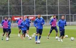 Open Training session of Ukraine National Football Team Royalty Free Stock Image