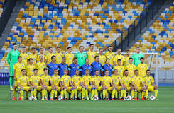 Open Training session of Ukraine National Football Team Stock Photography