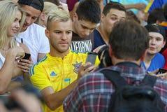 Open Training session of Ukraine National Football Team Stock Photo