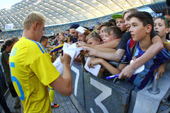 Open Training session of Ukraine National Football Team Royalty Free Stock Photography