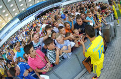Open Training session of Ukraine National Football Team Royalty Free Stock Image