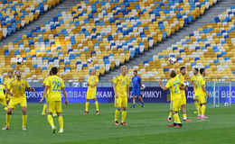 Open Training session of Ukraine National Football Team Stock Image