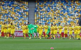 Open Training session of Ukraine National Football Team Stock Images