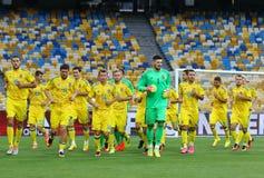 Open Training session of Ukraine National Football Team Royalty Free Stock Photo