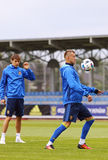 Open Training session of Ukraine National Football Team Royalty Free Stock Photos