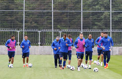 Open Training session of Ukraine National Football Team Stock Photos