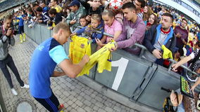 Open Training session of Ukraine National Football Team stock footage