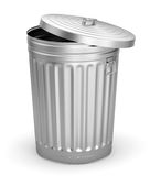 Open trash can Stock Images