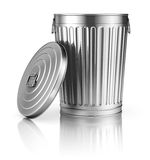 Open trash can Royalty Free Stock Photography