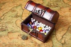 Open treasure box Stock Photos