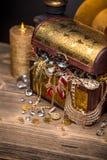Open treasure chest Royalty Free Stock Photo