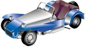 Open tweepersoonsauto stock illustratie