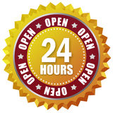 Open twenty four hour Stock Photo
