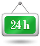 Open twenty four hour sign Stock Photography