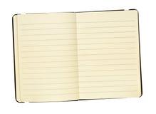 Open uitgespreid dagboek stock afbeeldingen