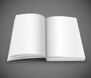 Open uitgespreid van boek met lege witte pagina's Stock Afbeeldingen