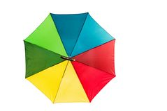 Open umbrella - isolated Royalty Free Stock Image
