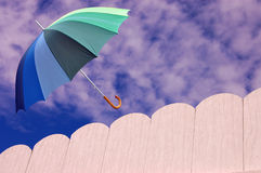Open Umbrella on a Lovely Day stock images