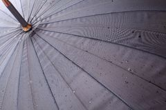Open umbrella with rain drops Royalty Free Stock Photos