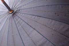 Open umbrella with rain drops Royalty Free Stock Photos