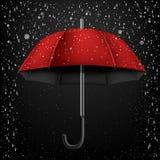 Open umbrella snow and rain Stock Image