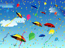 Open umbrellas Royalty Free Stock Photos