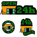 Open 24 Uren Stock Foto's