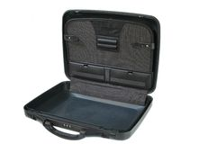 Open used briefcase Royalty Free Stock Image