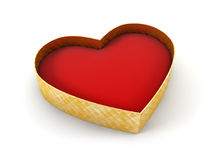 Open valentine's gift box Royalty Free Stock Photography