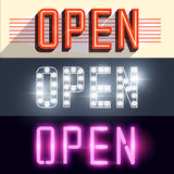 Open Vector Signs Royalty Free Stock Photography