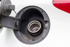 Open vehicke petrol cap Royalty Free Stock Image