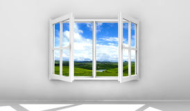 Open venster vector illustratie