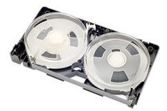 Open videocassette Stock Afbeelding