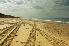 Open view of beach shore. Pic Stock Image