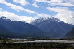 Open view of tibetan valley Royalty Free Stock Photo